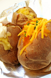 Baked Potatoes On Foil
