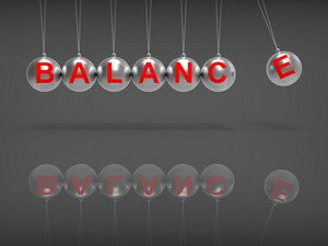 Balance Spheres Showing Balanced Life