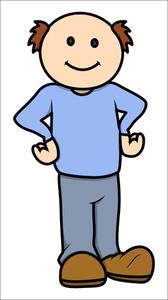 Bald Cartoon Man - Vector Illustrations