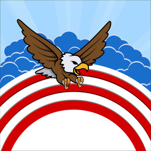 Bald Eagle 4th Of July Vector Theme Design