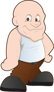 Bald Man - Cartoon Character