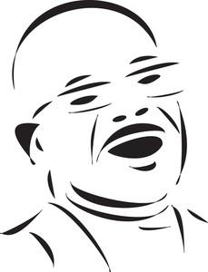 Bald Man In Happy Mood.