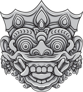 Bali Demons Vector Element