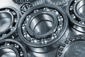 ball-bearings and gears, close-ups