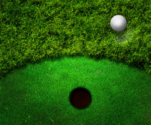 Ball In Grass Golf Background