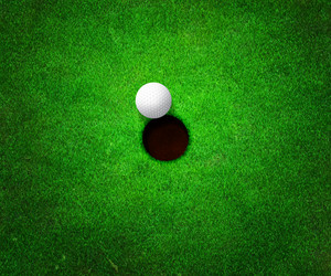 Ball Near Hole Golf Background