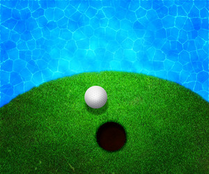Ball Near Water Golf Background