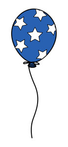 Balloon  Democracy Celebration 4th Of July Vector Illustration