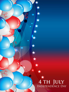 Balloons Background  For Independence Day Celebration.