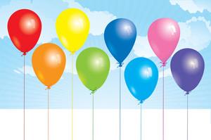 氣球。向量。