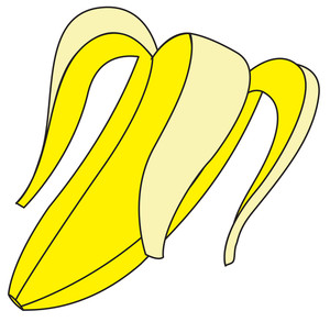 Banana Peel Vector Shape