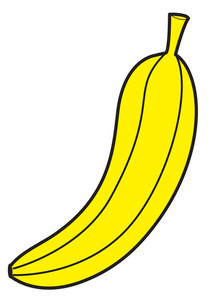 Banana Shape Vector