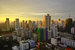 Bangkok city on morning