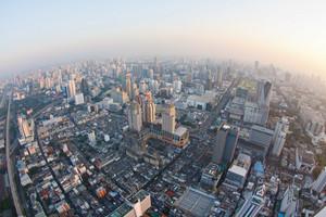 Bangkok City View From Above, Thailand.