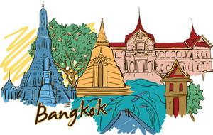 Bangkok Vector Doodle