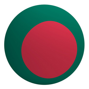 Bangladesh Flag On The Ball Isolated On White.