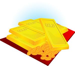 Bank Gold. Vector.