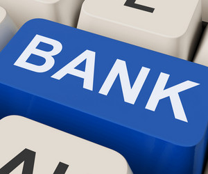 Bank Key Shows Online Or Internet Banking