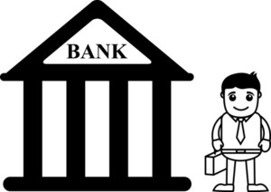 Banking Cartoon Concept - Vector Illustration
