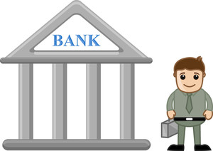 Banking Cartoon Concept - Vector Illustration