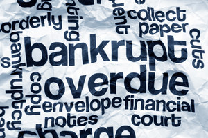 Bankrupt And Overdue Concept