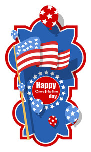 Banner Design For  Constitution Day Vector Illustration