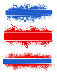 Banner Designs Patriotic Usa Theme Vector