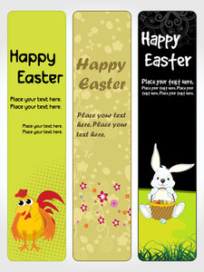 Banner For Happy Easter Day