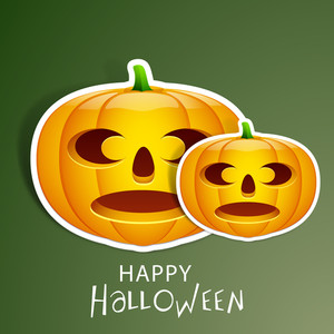 Banner Or Background For Halloween Party Night Sticker