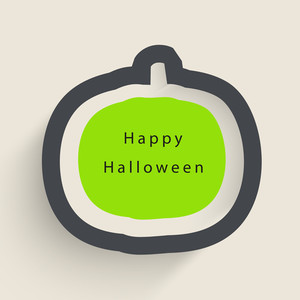 Banner Or Background For Halloween Party Night With Pumpkin On Grey Background.