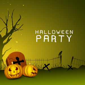 Banner Or Background For Halloween Party Night