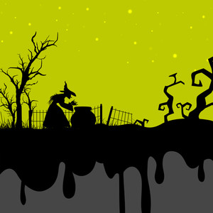 Banner Or Background For Halloween Party Spooky Night.