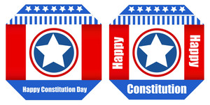 Banner Style Design Constitution Day Vector Illustration