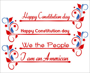 Banner Text  Constitution Day Vector Illustration