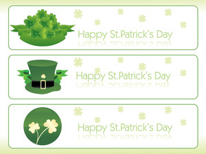 Banner With Beautiful Shamrock Vector 17 March