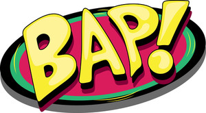 Bap - Comic Expression Vector Text