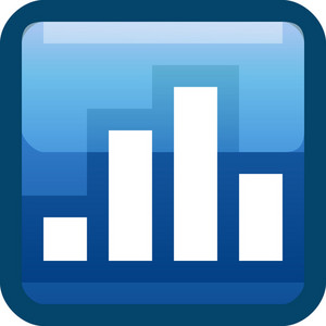 Bar Graph Blue Tiny App Icon