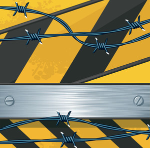 Barbed Wires. Vector.
