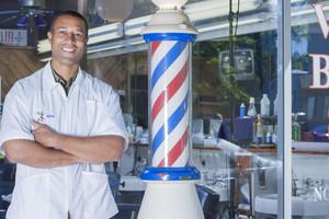 Barber in barbershop