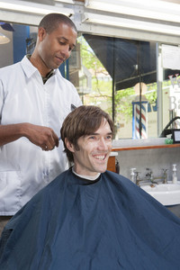 Barber in barbershop