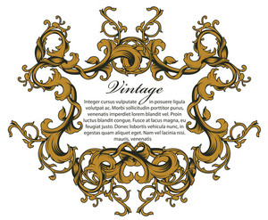 Baroque Floral Ornament Vector Illustration