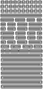Bars And Buttons 2 Vector