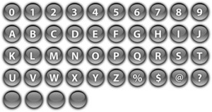 Bars And Buttons 6 Vector