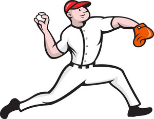Baseball Pitcher Player Throwing
