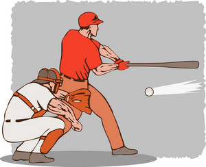 Baseball Player Batter Catcher