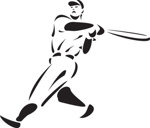 Baseball Player Hold On Bat.