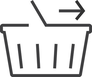 Basket 1 Minimal Icon