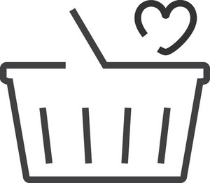 Basket 2 Minimal Icon