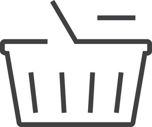 Basket 6 Minimal Icon