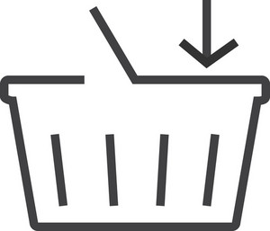 Basket 8 Minimal Icon